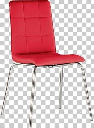 Eames Lounge Chair Couch Furniture Red PNG