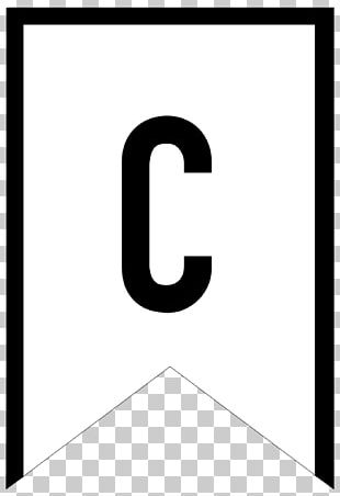 Alphabet Letter Template Banner Paper PNG