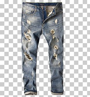 Ripped Jeans Denim Computer File PNG