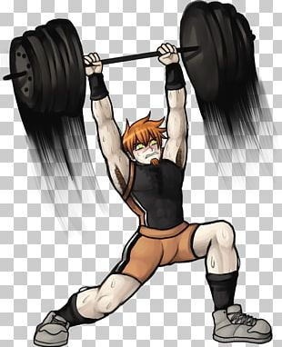 Weight Training Barbell Olympic Weightlifting Manga PNG