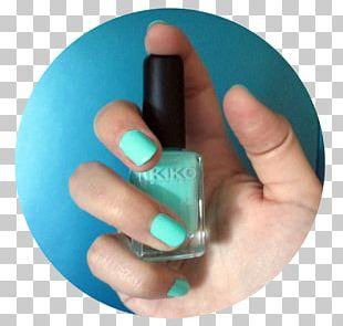 Nail Polish Aquamarine Color Menta PNG