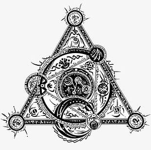 Triangle Magic Circle PNG