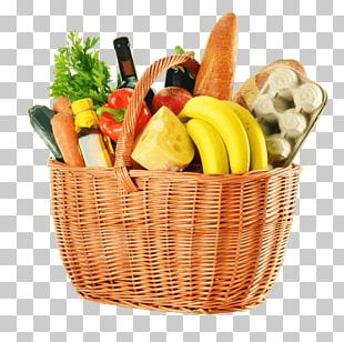 Basket Organic Food Vegetable Fruit PNG