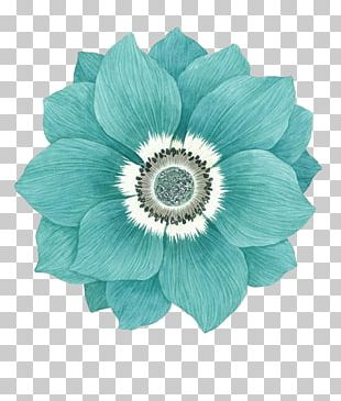 Flower Blue Sky Blue Version2016 Green PNG