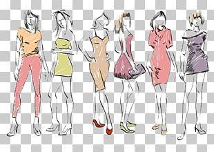 Fashion Model Fashion Model Drawing PNG