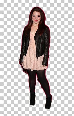 Jennifer Stone Leather Jacket Fashion Model PNG