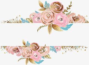 Skew Symmetric Pink Flower Decoration PNG