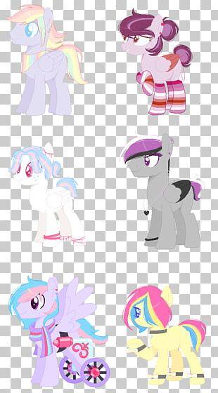 Horse Illustration Product Design Pink M PNG
