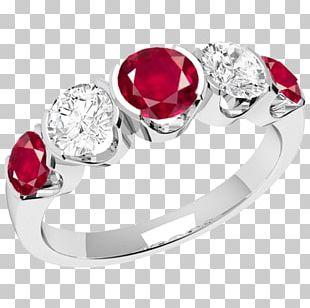 Ruby Eternity Ring Gold Diamond Body Jewellery PNG