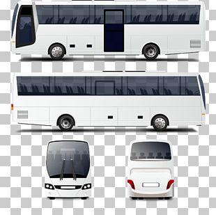 Bus Mockup Illustration PNG