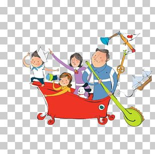 Cartoon Family Comics Child PNG