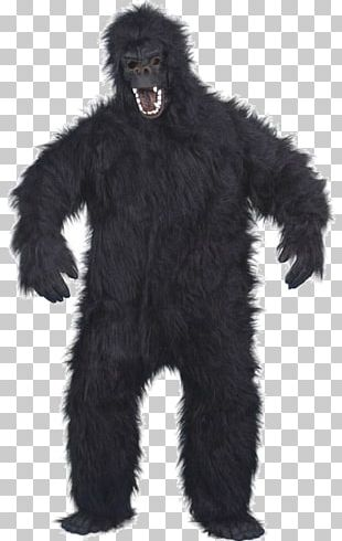 Gorilla Suit Costume Party Mask PNG