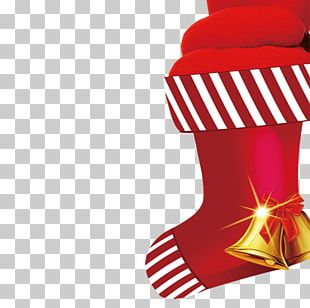 Christmas Santa Claus Gift Hosiery PNG