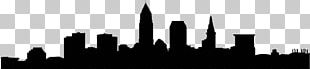 Cleveland Skyline Silhouette Photography PNG