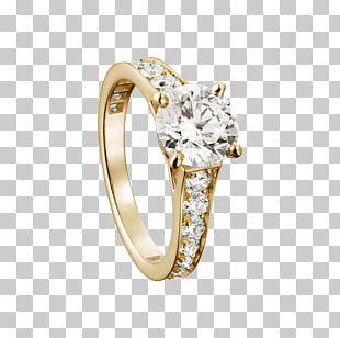 Engagement Ring Diamond Brilliant Cartier PNG