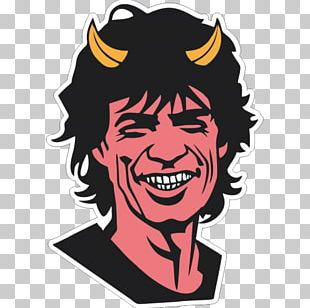 Mick Jagger Sympathy For The Devil Sign Of The Horns PNG