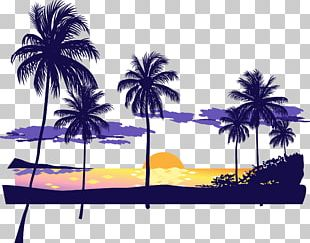 Sunset Beach Icon PNG