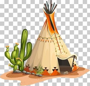Indigenous Peoples Of The Americas Tipi House Totem Illustration PNG