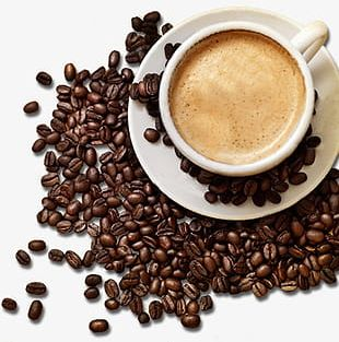 Mellow Coffee And Coffee Beans PNG