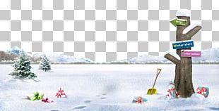 Winter Snowman Poster PNG