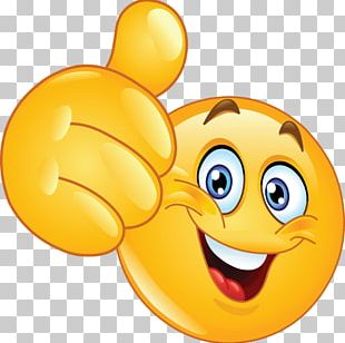 Emoji Emoticon Smiley Like Button Thumb Signal PNG