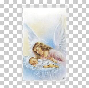 Holy Family Guardian Angel Infant Holy Card PNG