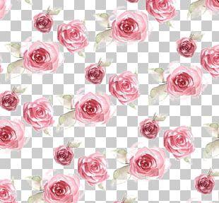Paper Rose Flower Pattern PNG