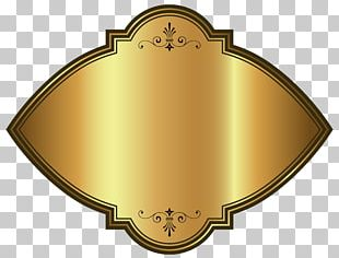 Gold Luxury Label Template PNG