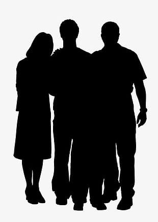 Silhouette Figures PNG