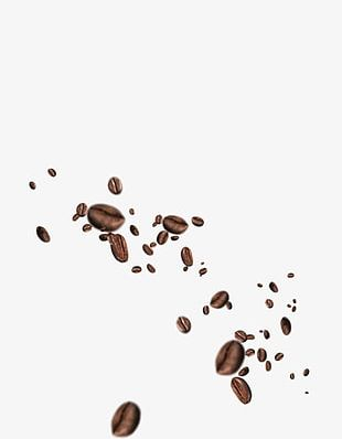 Flying Coffee Beans PNG