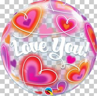 Mylar Balloon Heart Valentine's Day Love PNG