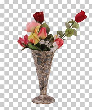 Garden Roses Floral Design Vase Cut Flowers PNG