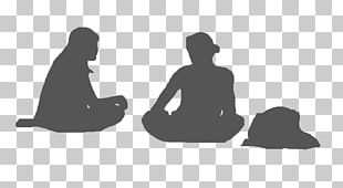 Sitting Silhouette White People PNG