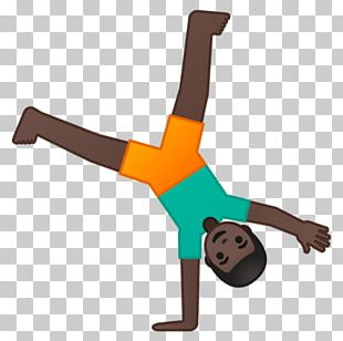 Human Skin Color Dark Skin Cartwheel Emoji PNG