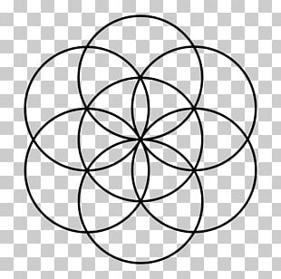 Sacred Geometry Overlapping Circles Grid Seed PNG