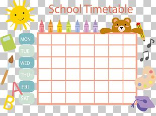 School Timetable Schedule Template PNG