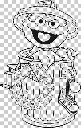 Oscar The Grouch Elmo Big Bird Coloring Book Drawing PNG