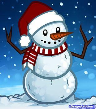 Olaf Snowman Drawing Christmas PNG