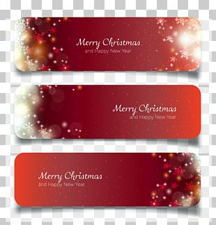 Web Banner New Year Christmas PNG