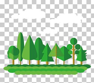 Flat Design Forest Tree PNG