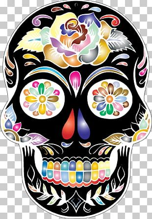Calavera Skull Day Of The Dead PNG