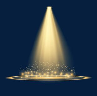 Simulated Stage Lighting PNG