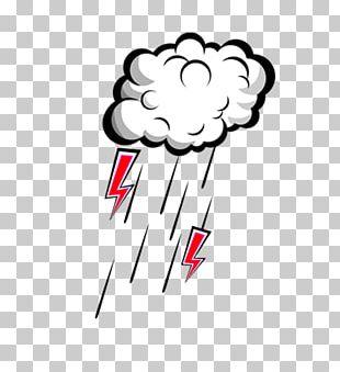 Thunder Lightning Rain Overcast PNG