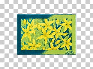Yellow Blue Color Acrylic Paint Frames PNG