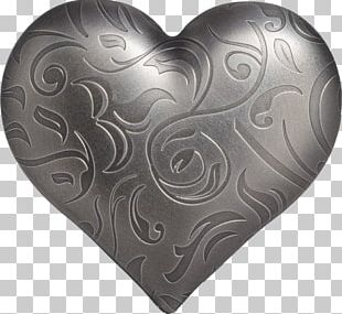 Silver Coin Bullion Gold Heart PNG