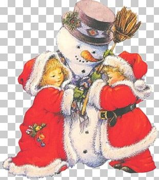 Snowman Christmas Child Party PNG