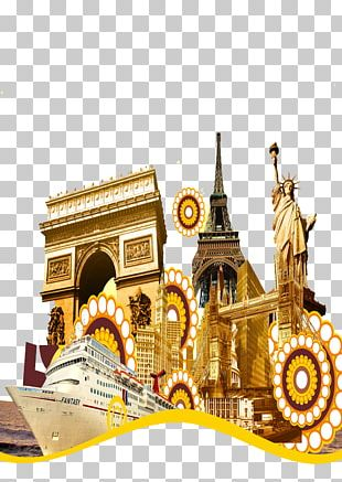 Arc De Triomphe Tourism Comics Poster Illustration PNG