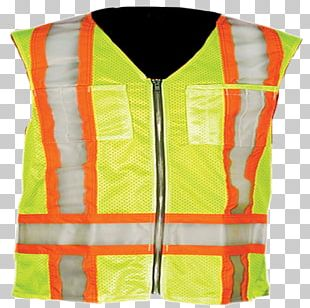 Gilets T-shirt High-visibility Clothing Sleeveless Shirt International Safety Equipment Association PNG