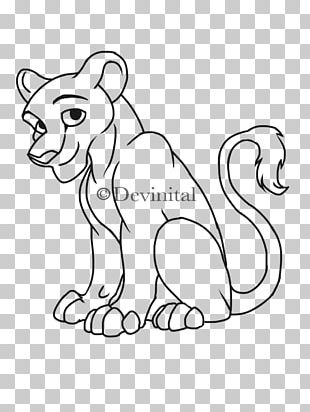 Lion Line Art Drawing PNG