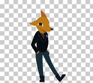 Red Fox Night In The Woods Fan Art Game PNG